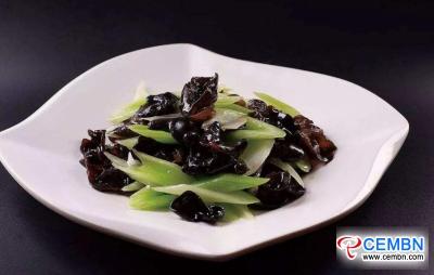 Buena combinación: hongo negro salteado con apio