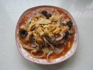 Recette: Œufs brouillés à la tomate et aux pleurotes