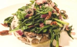 Portobello's con spinaci